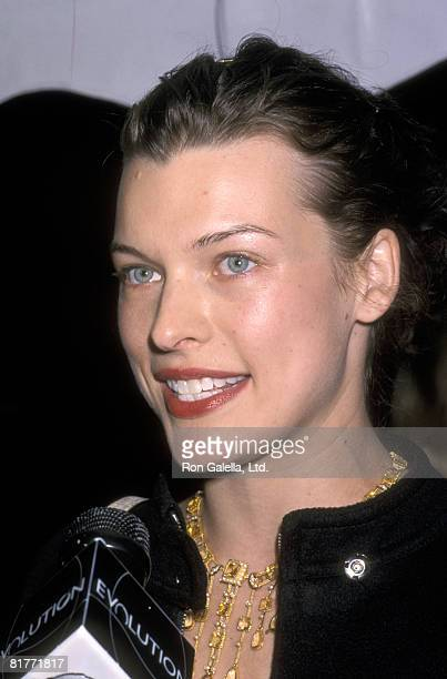 Model/Actor Milla Jovovich attends the Vogue Magzine and Evolution Television Party for the 2000 VH1/Vogue Fashion Awards Nominees on October 19 2000...