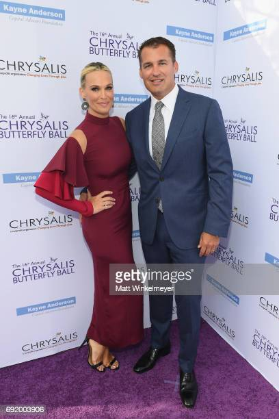 Model/actor Molly Sims and Producer Scott Stuber at the 16th Annual Chrysalis Butterfly Ball on June 3 2017 in Los Angeles California