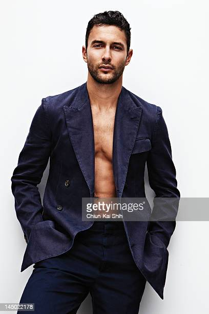 Model/actor Noah Mills poses for August Man on March 24 2012 in New York City COVER IMAGE