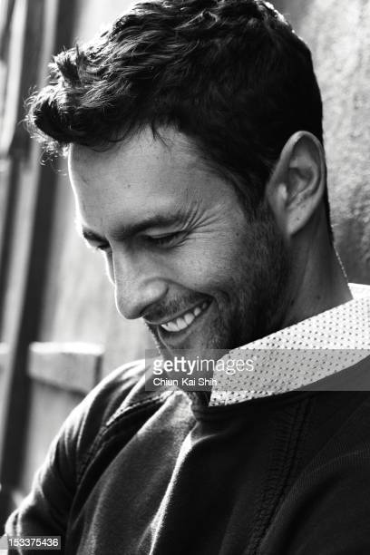 Model/actor Noah Mills poses for August Man on March 24 2012 in New York City PUBLISHED IMAGE