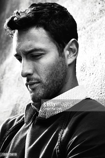 Model/actor Noah Mills poses for August Man on March 24 2012 in New York City