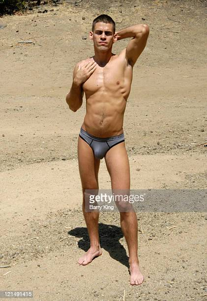 Model/actor Ricardo E Rivera poses during a photo shoot on August 19 2011 in Los Angeles California