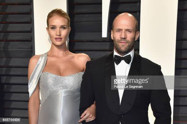 Modelactor Rosie HuntingtonWhiteley and actor Jason Statham attend the 2017 Vanity Fair Oscar Party hosted by Graydon Carter at Wallis Annenberg...
