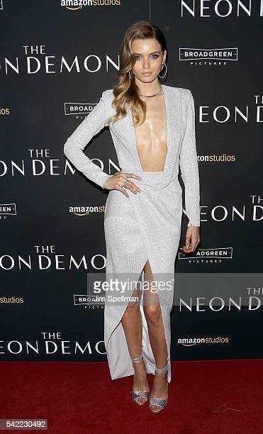 Model/actress Abbey Lee attends 'The Neon Demon' New York premiere at Metrograph on June 22 2016 in New York City