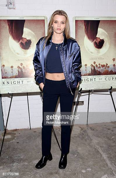 Model/actress Abbey Lee Kershaw arrives at the 'Knight of Cups' New York screening held at Metrograph on February 22 2016 in New York City