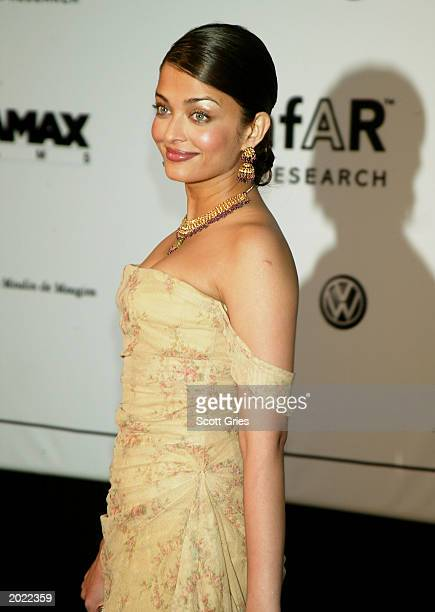 Model/Actress Aishwarya Rai attends amfAR's 'Cinema Against AIDS' benefit during the 56th International Cannes Film Festival 2003 on May 22 2003 in...