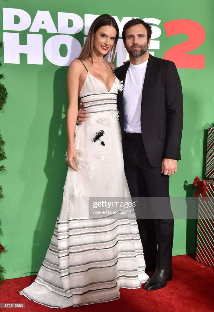 Model/actress Alessandra Ambrosio and Jamie Mazur arrive at the premiere of Paramount Pictures' 'Daddy's Home 2' at Regency Village Theatre on November 5, 2017 in Westwood, California.