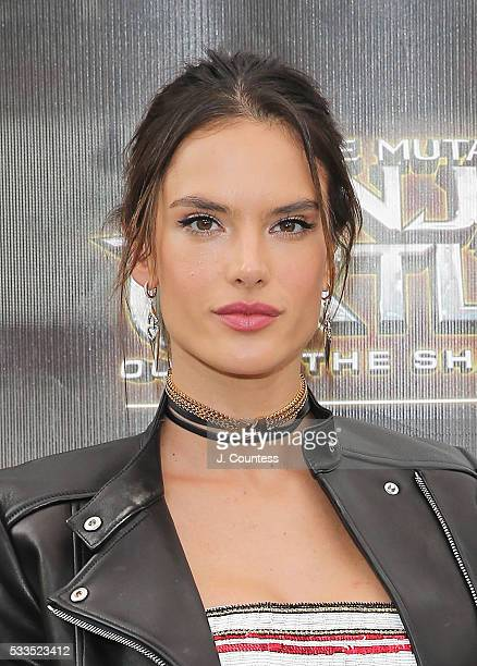 Model/actress Alessandra Ambrosio attends the 'Teenage Mutant Ninja Turtles Out Of The Shadows' World Premiere at Madison Square Garden on May 22...