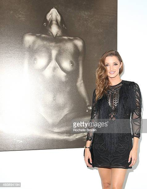 Model/actress Alyssa Arce attends 'Metallic Life' by Brian Bowen Smith brought to you by CASAMIGOS Tequila at De Re Gallery on October 22 2015 in...