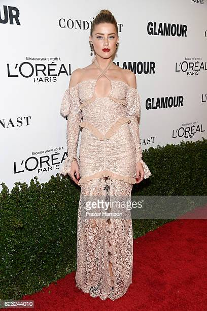 Model/actress Amber Heard attends Glamour Women Of The Year 2016 at NeueHouse Hollywood on November 14 2016 in Los Angeles California