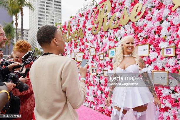 Model/actress Amber Rose attends the 4th Annual Amber Rose SlutWalk on October 6 2018 in Los Angeles California