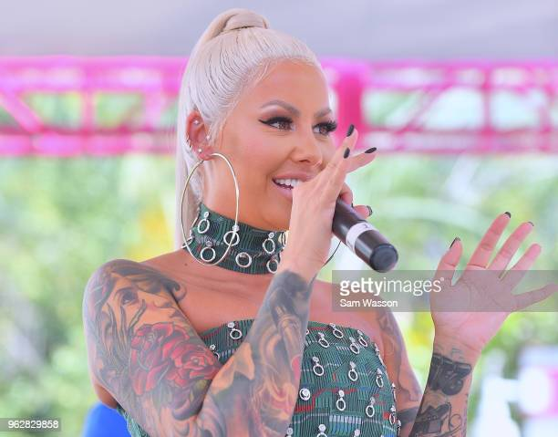 Model/actress Amber Rose hosts at the Flamingo Go Pool Dayclub at Flamingo Las Vegas on May 26 2018 in Las Vegas Nevada