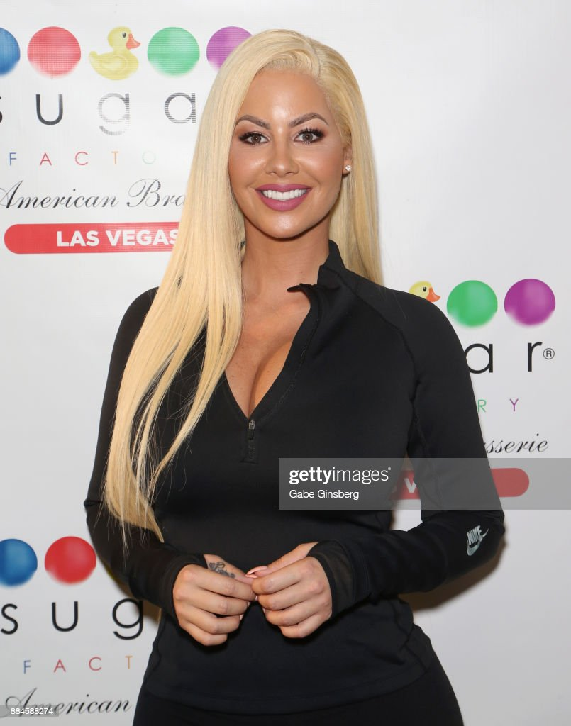 Model/actress Amber Rose hosts auditions for the 'Chocolate Rose' weekly program in the Chocolate Lounge at Sugar Factory American Brasserie at the Fashion Show mall on December 2, 2017 in Las Vegas, Nevada.
