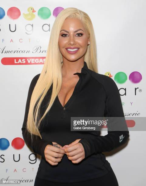 Model/actress Amber Rose hosts auditions for the 'Chocolate Rose' weekly program in the Chocolate Lounge at Sugar Factory American Brasserie at the...