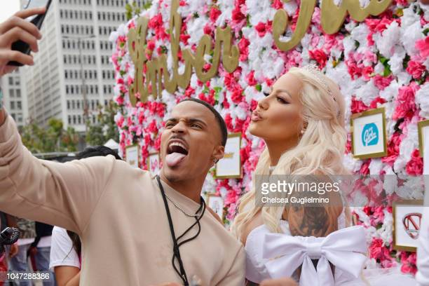 Model/actress Amber Rose poses for a selfie at the 4th Annual Amber Rose SlutWalk on October 6 2018 in Los Angeles California