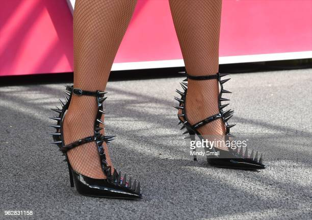 Model/actress Amber Rose shoe detail speaks to guests at the Flamingo Go Pool Dayclub at Flamingo Las Vegas on May 26 2018 in Las Vegas Nevada