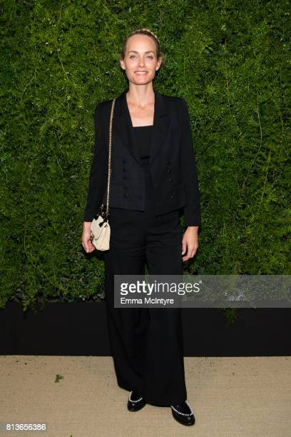 Model/actress Amber Valetta attends the Chanel dinner celebrating Lucia Pica and the Travel Diary Makeup Collection at Capo on July 12 2017 in Santa...