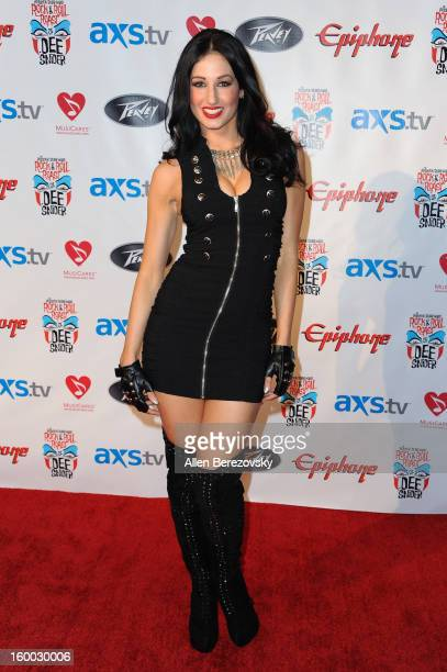 Model/actress Amie Nicole arrives at the Revolver/Guitar World Rock & Roll roast of Dee Snider at City National Grove of Anaheim on January 24, 2013...