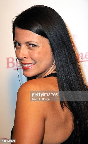 Model/actress Angel Boris arrives for the Benchwarmer Back To School Red Carpet Party in conjunction with CEO Brian Wallos' Birthday celebration held...