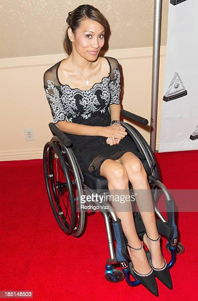 Model/actress Angela Rockwood arrives at the 2013 Media Access Awards at The Beverly Hilton Hotel on October 17 2013 in Beverly Hills California