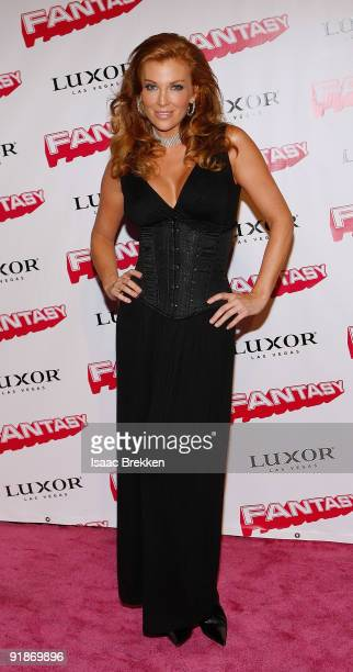 Model/actress Angelica Bridges arrives at the 10th anniversary celebration for the adult revue 'Fantasy' at the Luxor Resort Casino October 13 2009...