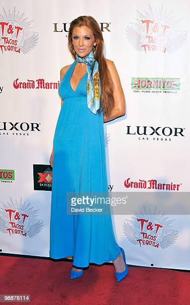 Model/actress Angelica Bridges arrives at the 12Hour Cinco de Mayo Fiesta at Tacos Tequila at The Luxor Resort Casino on May 5 2010 in Las Vegas...