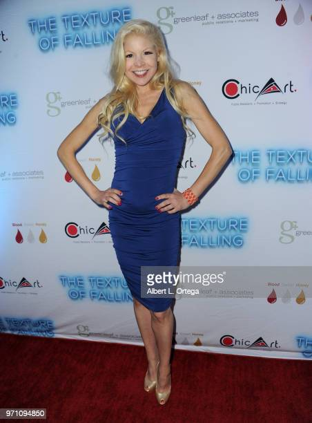 Model/actress Anne McDaniels arrives for Maria Allred's 'The Texture Of Falling' held at The Ricardo Montalban Theatre on June 9 2018 in Hollywood...