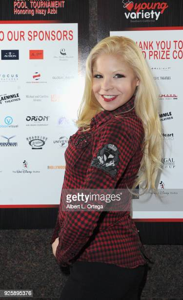 Model/actress Anne McDaniels attends Young Variety's 12th Annual Pool Tournament Benefiting Variety The Children's Charity of Southern California...