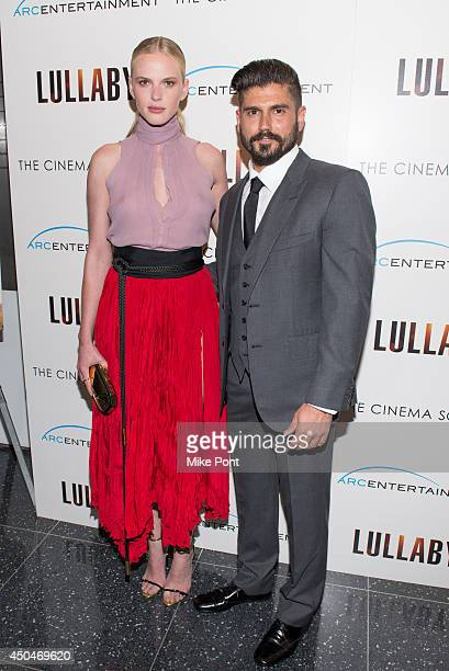 Model/Actress Anne V and Writer/Director Andrew Levitas attend the Arc Entertainment The Cinema Society screening of 'Lullaby' at Museum of Modern...