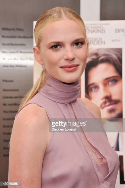 Model/actress Anne V attends the Arc Entertainment The Cinema Society screening of 'Lullaby' at Museum of Modern Art on June 11 2014 in New York City