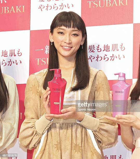 Model/Actress Anne Watanabe attends TSUBAKI PR event on March 12, 2015 in Tokyo, Japan.