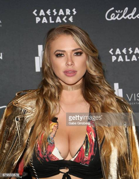 Model/actress Antje Utgaard attends The Art Of Gilda Garza Te Amo Mexico presented by Playboy Mexico at the Vista Lounge at Caesars Palace on May 5...