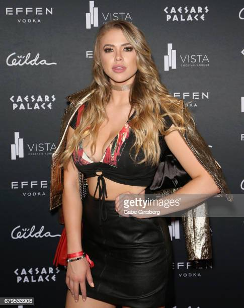 Model/actress Antje Utgaard attends The Art Of Gilda Garza 'Te Amo Mexico' presented by Playboy Mexico at the Vista Lounge at Caesars Palace on May 5...