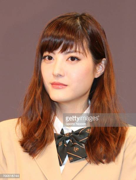 Model/Actress Arisa Sato attends preview screening of film 'Strobe Edge' on February 16 2015 in Tokyo Japan
