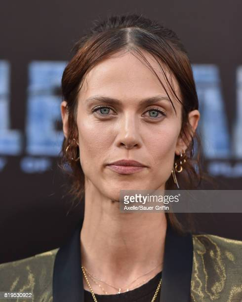 Model/actress Aymeline Valade arrives at the Los Angeles premiere of 'Valerian and the City of a Thousand Planets' at TCL Chinese Theatre on July 17...
