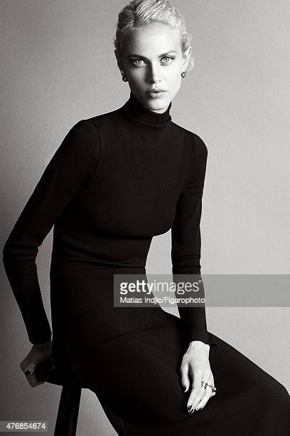 Model/actress Aymeline Valade is photographed for Madame Figaro on May 18 2015 at the Cannes Film Festival in Cannes France Dress jewelry and shoes...