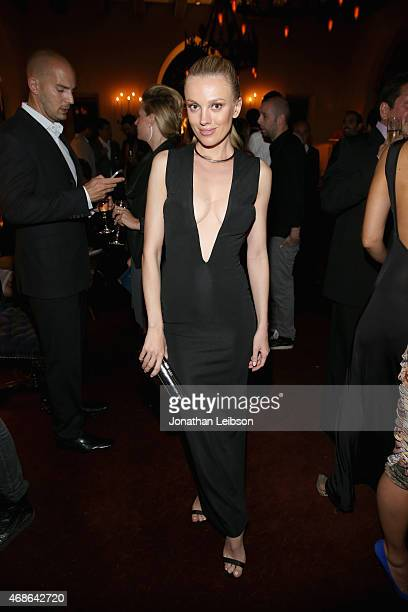 Model/actress Bar Paly attends the Variety and Formula E Hollywood Gala at Chateau Marmont on April 4 2015 in Los Angeles California
