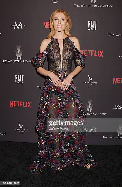 Model/actress Bar Paly attends The Weinstein Company and Netflix Golden Globe Party presented with FIJI Water Grey Goose Vodka Lindt Chocolate and...
