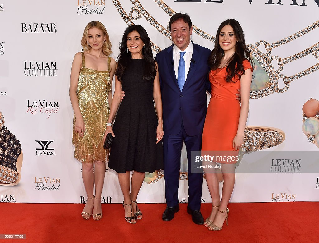Model/actress Bar Paly, Miranda LeVian, Le Vian CEO Eddie LeVian and Lexy LeVian attend the Le Vian 2017 Red Carpet Revue at the Mandalay Bay Convention Center on June 5, 2016 in Las Vegas, Nevada.