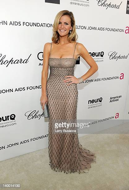 Model/Actress Booklyn Decker arrives at the 20th Annual Elton John AIDS Foundation Academy Awards Viewing Party at The City of West Hollywood Park on...
