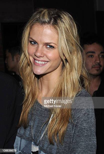 Model/actress Brooklyn Decker attends GQ Cadillac Lacoste and Patron Tequila Celebrating the Coolest Athletes and the Big Game hosted by Andy Roddick...