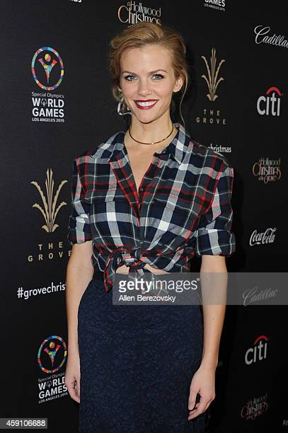 Model/actress Brooklyn Decker attends The Grove's 12th Annual Christmas Tree Lighting Spectacular at The Grove on November 16 2014 in Los Angeles...