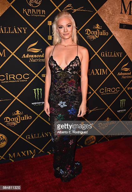 Model/actress Caitlin O'Connor attends the Maxim Hot 100 Party at the Hollywood Palladium on July 30 2016 in Los Angeles California