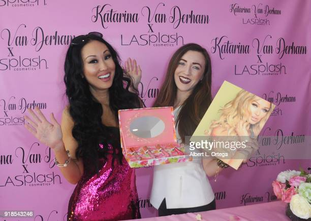 Model/actress Candace Kita and actress Amber Martinez attend the Valentine's Day Meet And Greet and Taping of docuseries '90s Girl' For Katarina Van...