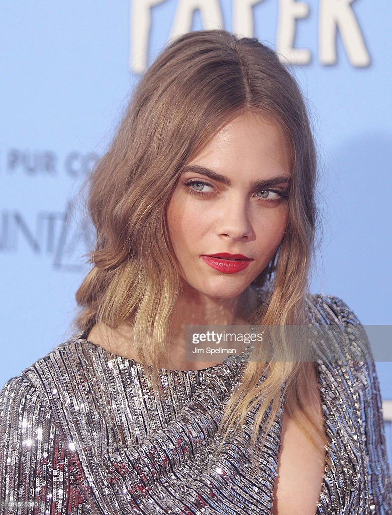 Model/actress Cara Delevingne attends the 'Paper Towns' New York premiere at AMC Loews Lincoln Square on July 21, 2015 in New York City.