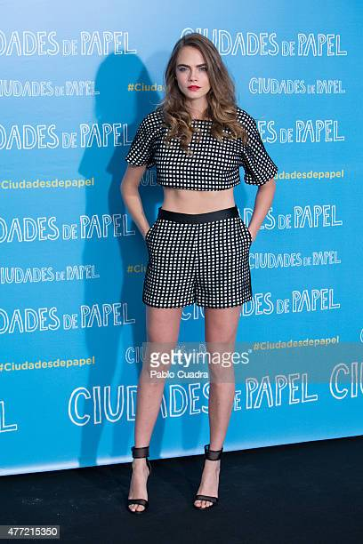 Model/Actress Cara Delevingne attends the 'Paper Towns' photocall at the Villamagna Hotel on June 15 2015 in Madrid Spain
