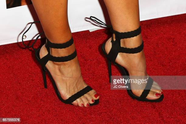 Model/actress Carissa Rosario shoes detail attends Whispers from Children's Hearts Foundation's 3rd Legacy Charity Gala at Casa Del Mar on March 24...