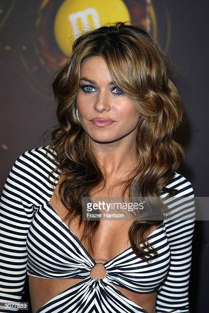 Model/actress Carmen Electra arrives at the The MM's Brand City party on March 11 2004 in Hollywood California