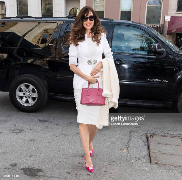 Model/actress Carol Alt is seen arriving to the 2018 Tribeca Film Festival at SVA Theatre on April 21 2018 in New York City