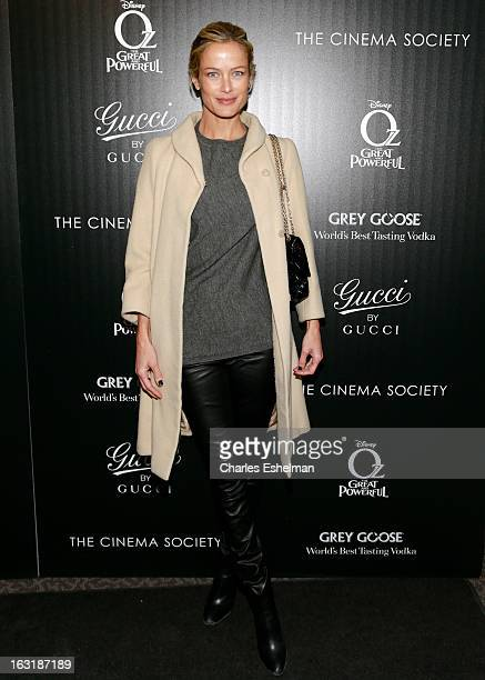 Model/actress Carolyn Murphy attends the Gucci and The Cinema Society screening of 'Oz the Great and Powerful' at the DGA Theater on March 5 2013 in...